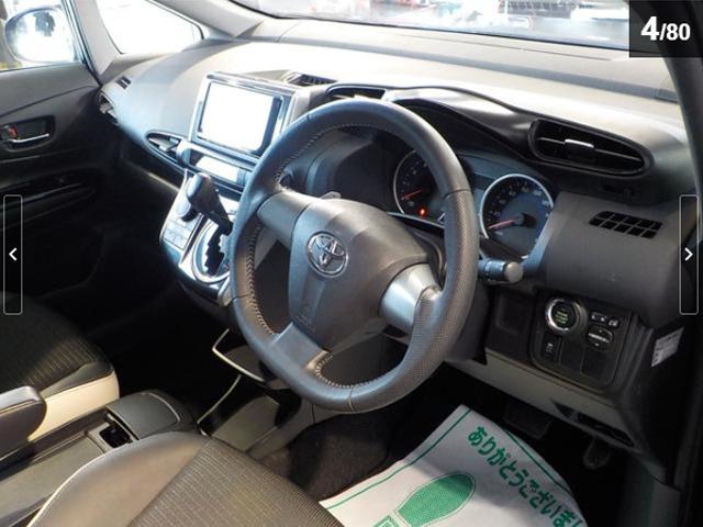 トヨタ ウィッシュ 1.8Sモノトーン ワンオーナー車 ケンウッド製SDナビ